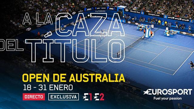 El Open de Australia de tenis en exclusiva, en Eurosport 1 y Eurosport 2