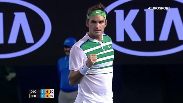Federer a réussi le point du match sur... son dernier coup de raquette victorieux