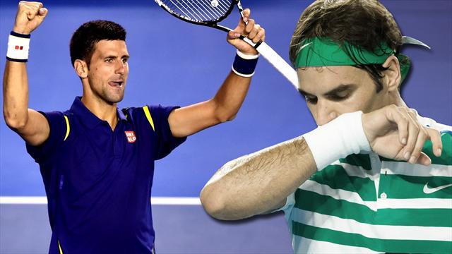 Поджог. Джокович чуть не унизил Федерера в полуфинале