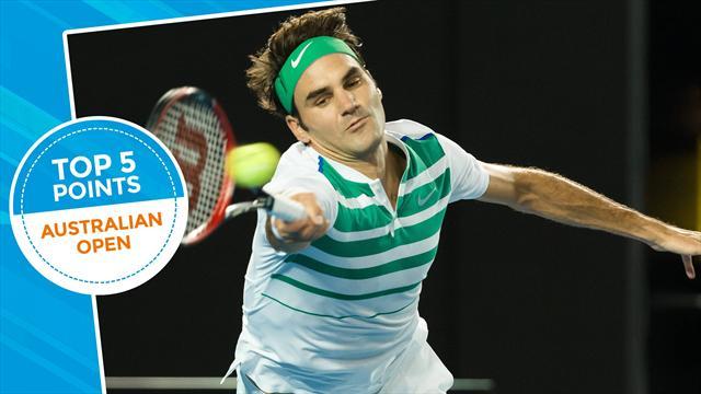 Le top 5 points de jeudi : Ça ne consolera pas Federer mais il a réussi l'un des gestes du tournoi