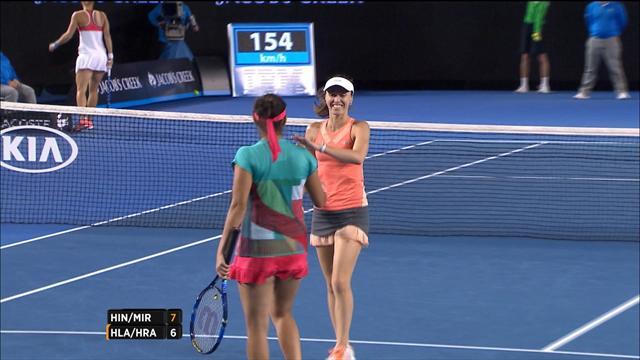 Hingis/Mirza, 3e titre majeur de suite en double dames