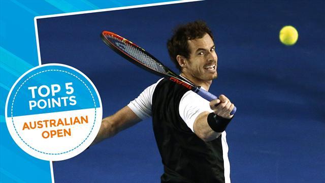 Топ-5 ударов двенадцатого дня Australian Open