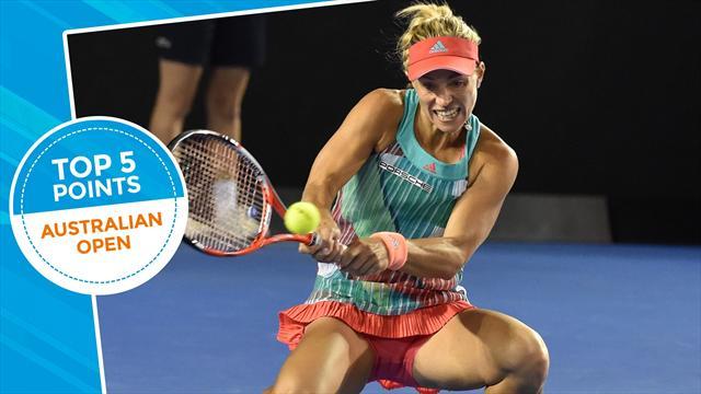 Top 5 Australian Open: i colpi più belli della finale Kerber-Williams
