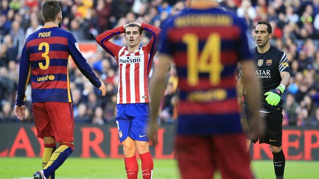 Trop seul face au Barça, Griezmann n'a pas fait le poids