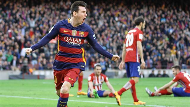 El Barcelona vence al Atlético y pone tierra de por medio en el campeonato.