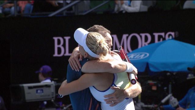 Видео, на котором Веснина и Соарес выигрывают Australian Open, а потом долго обнимаются