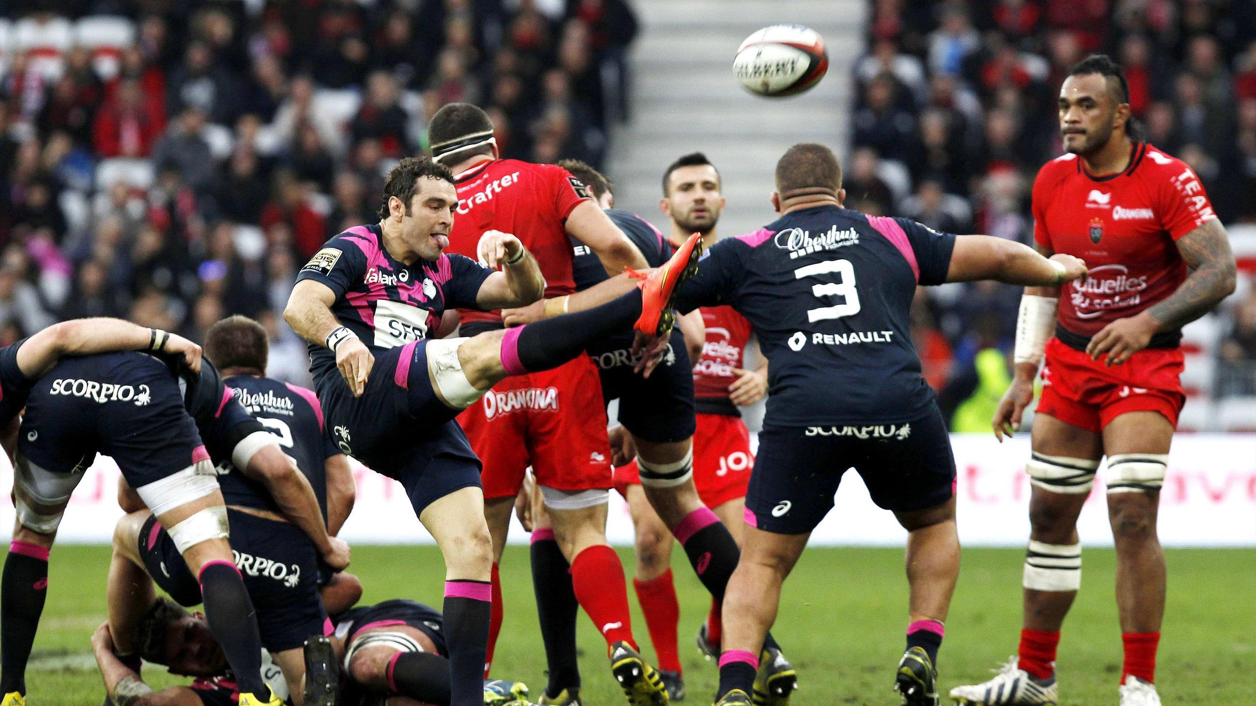 Julien Tomas (Stade français) face à Toulon - 31 janvier 2016