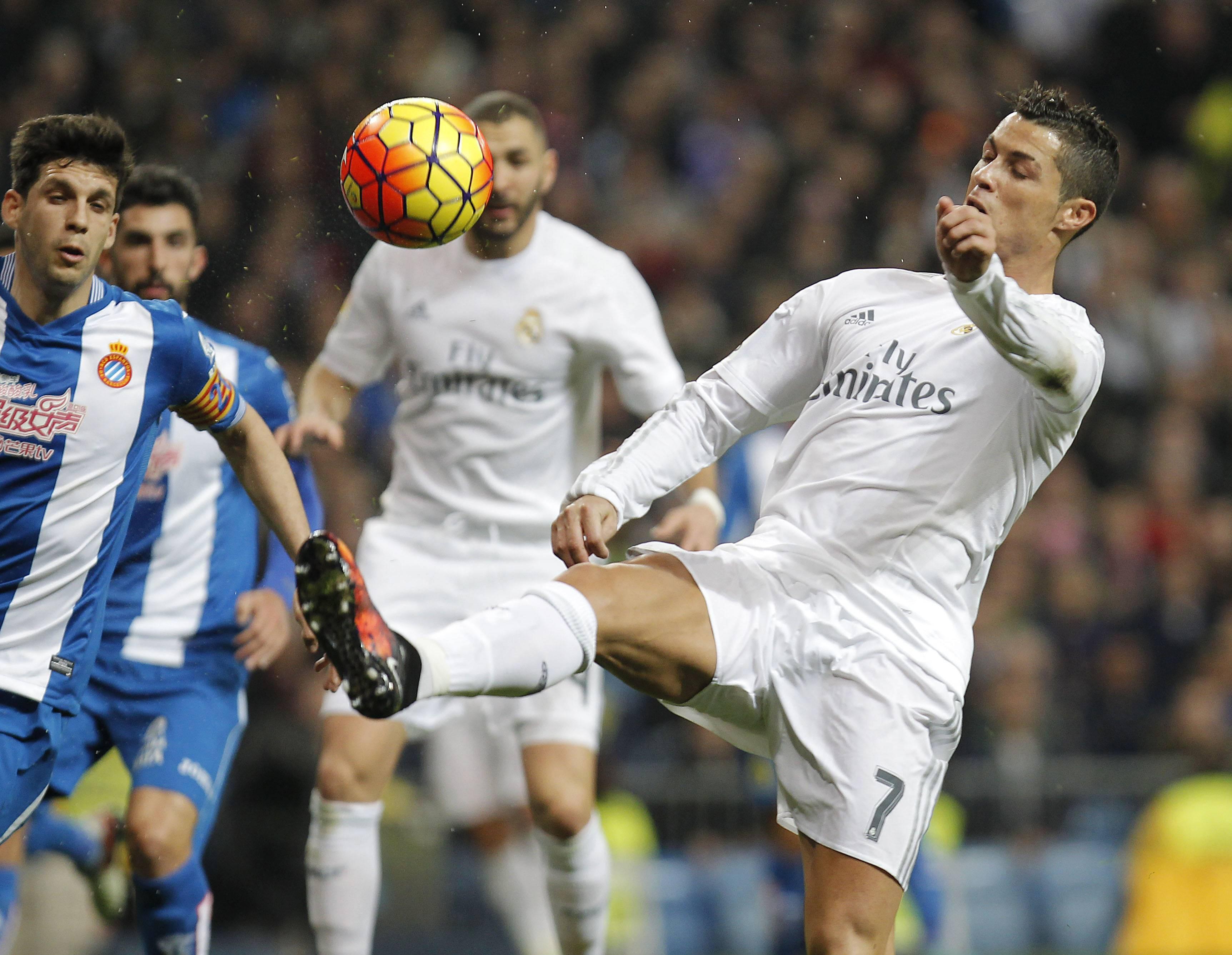 Reals Weltstar Cristiano Ronaldo gelang gegen Espanyol ein Dreierpack