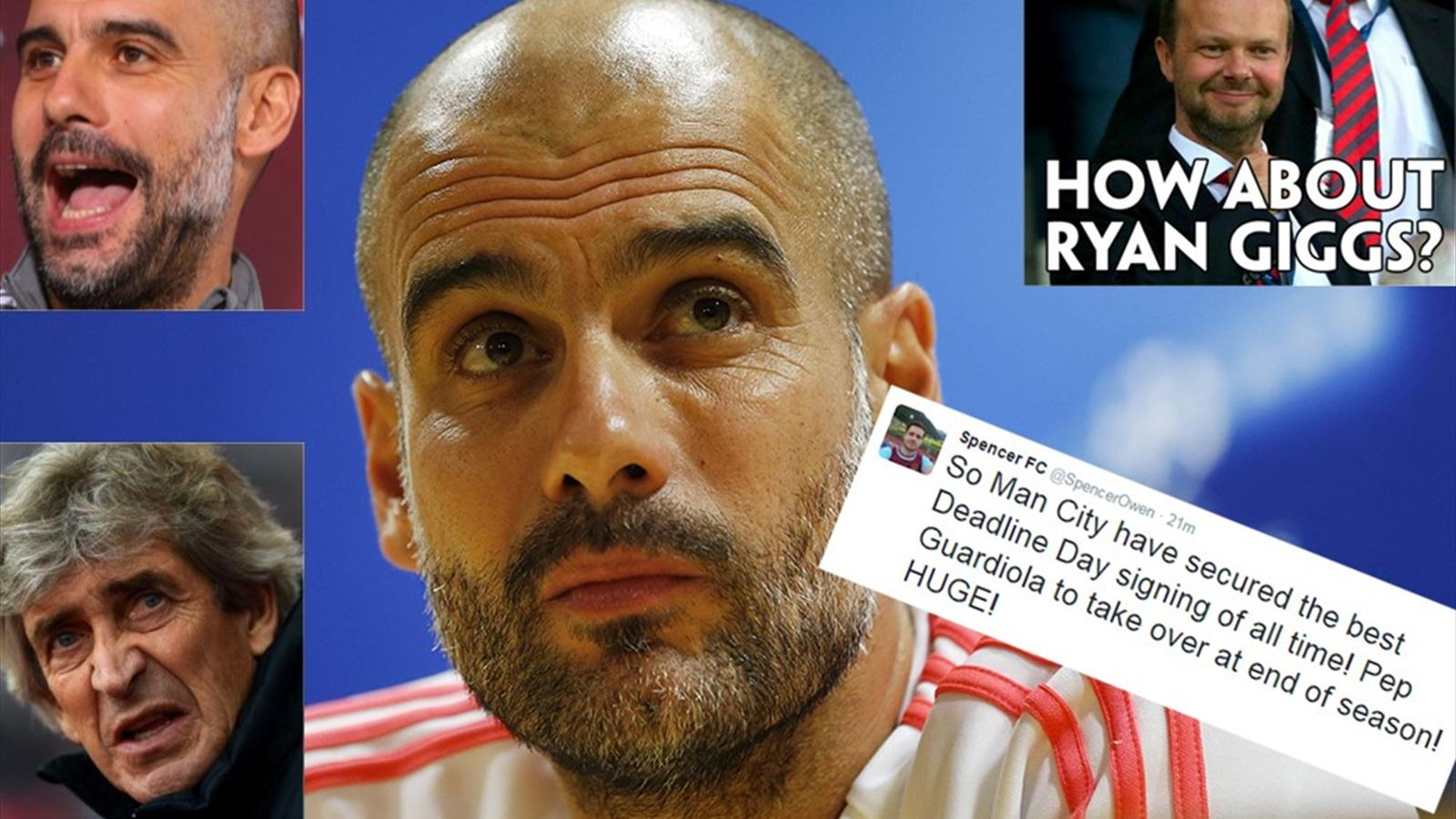 Twitter reaction to Pep Guardiola being confirmed as the Manchester City boss in waiting