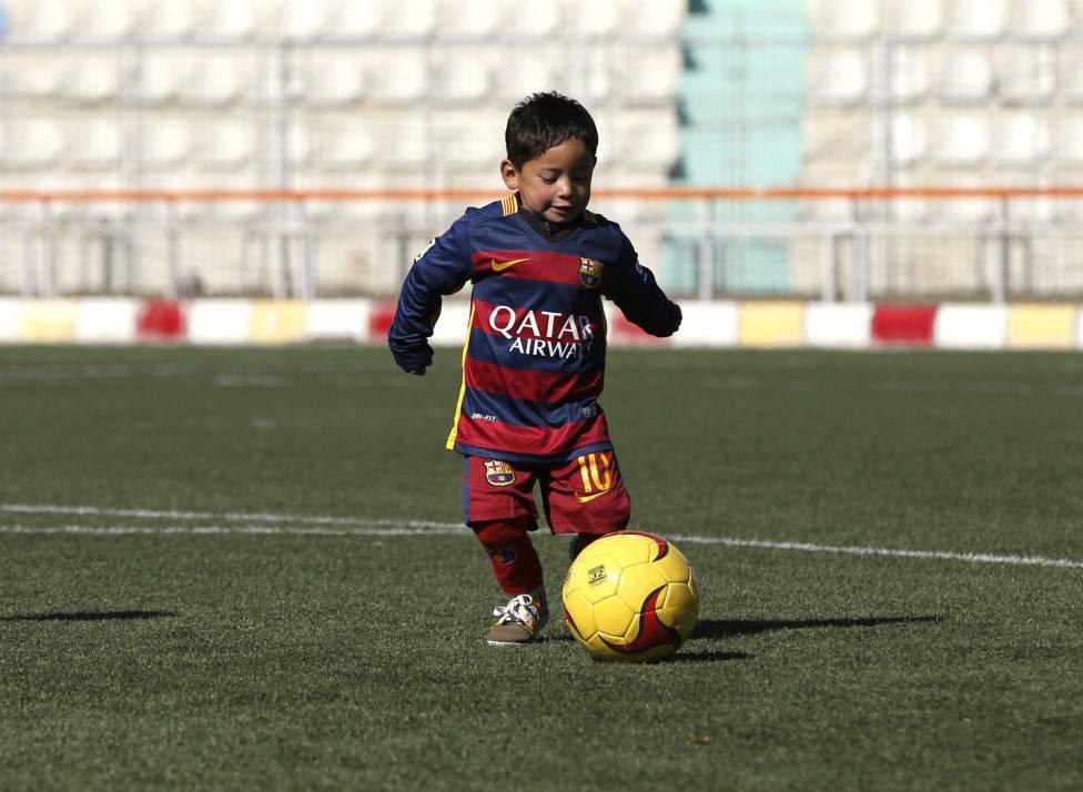 MurtazaMurtaza, con la camiseta del Barça