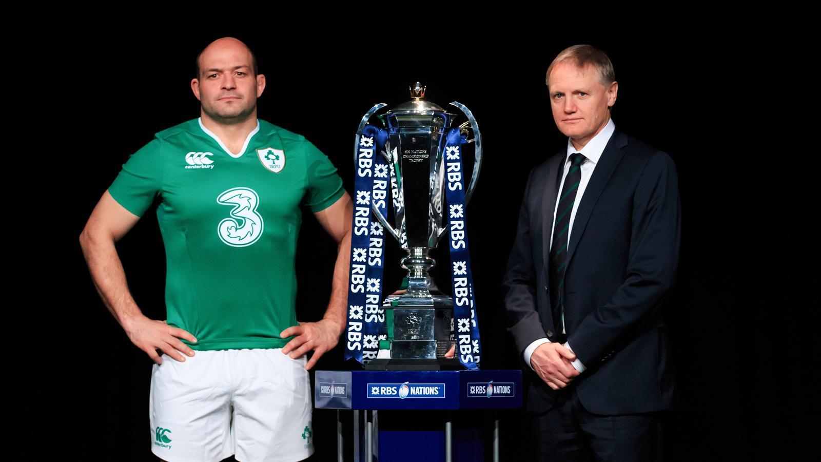 Le nouveau capitaine de l'Irlande, Rory Best, et le sélectionneur Joe Schmidt - 2016