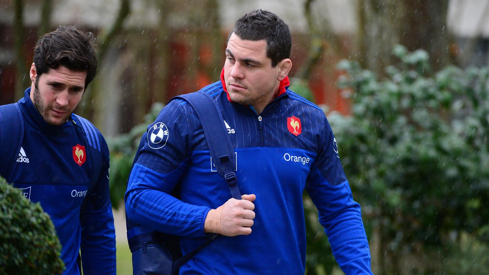 Guilhem Guirado et Maxime Machenaud (XV de France) - 2 février 2016