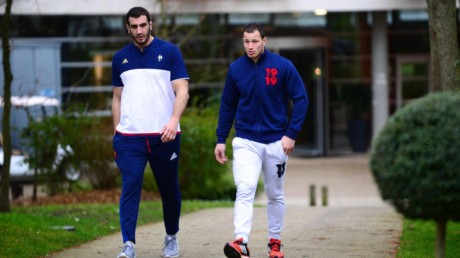 Yoann Maestri et Wenceslas Lauret (XV de France) - 2 février 2016