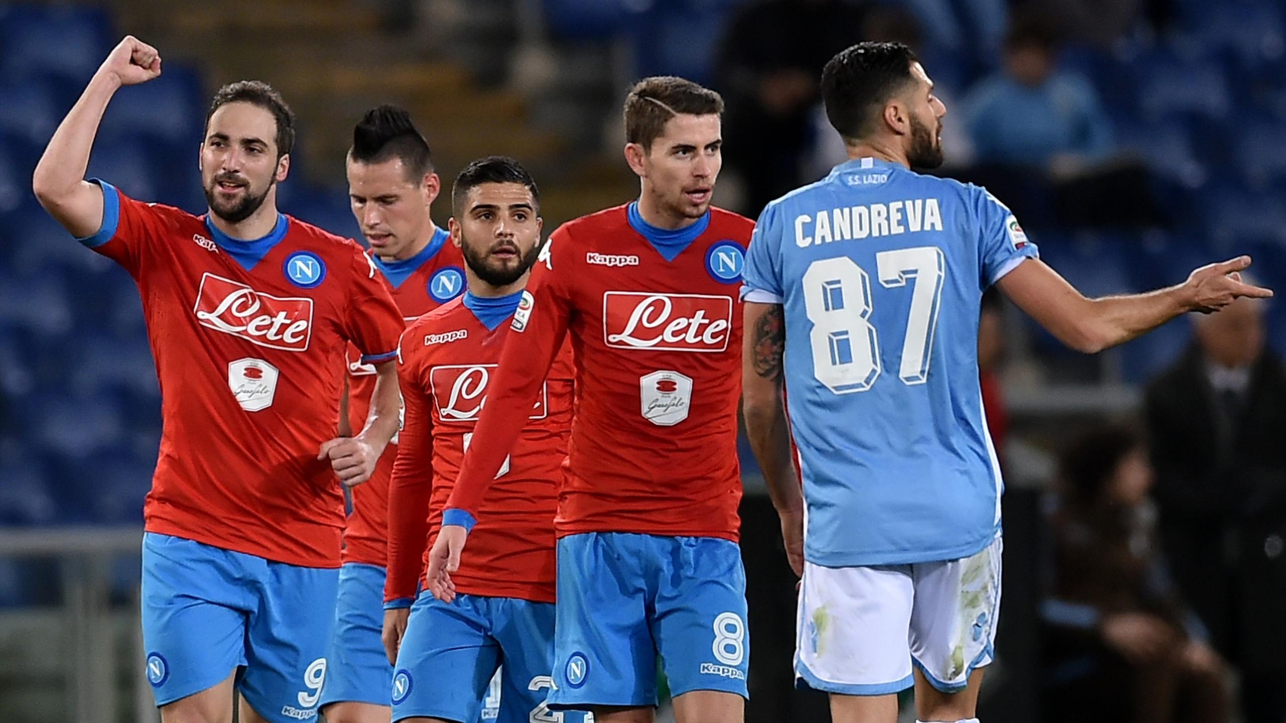 Gonzalo Higuain a encore marqué dans le succès de Naples contre la Lazio
