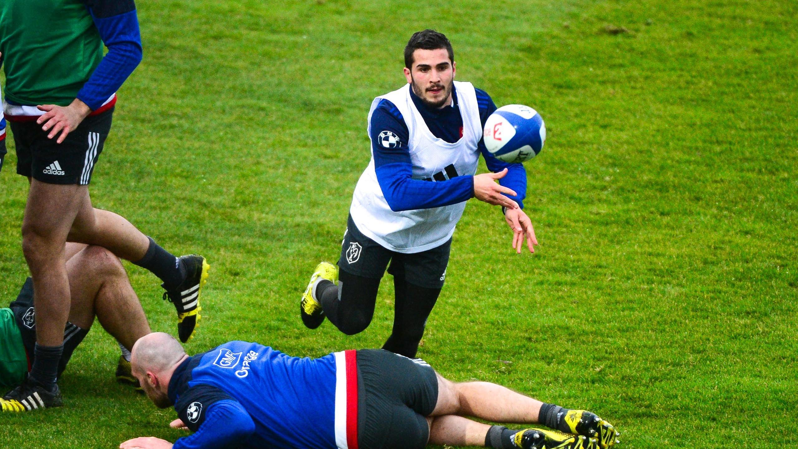 Sébastien Bézy lors d'un entraînement du XV de France