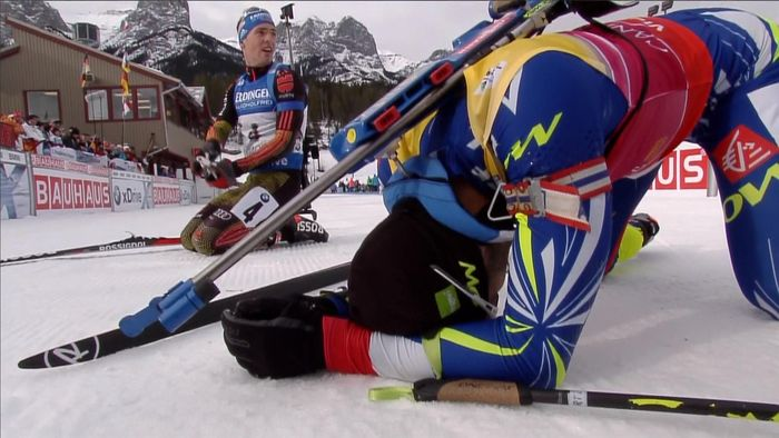 Martin Fourcade leads the way at biathlon in Canmore