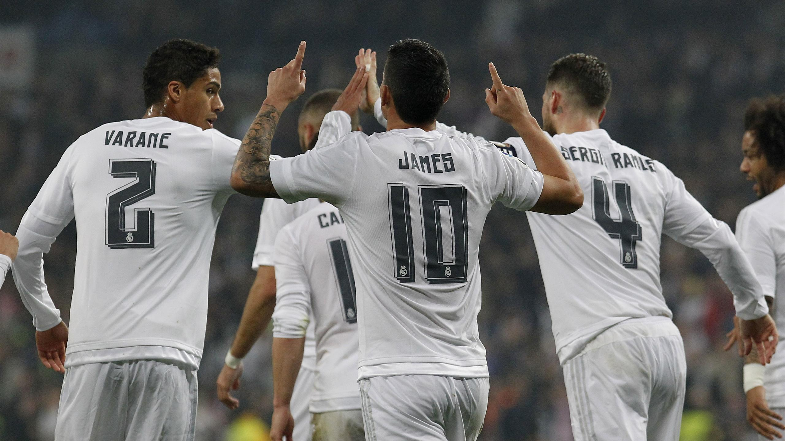 James Rodriguez lors de Real Madrid - Espanyol Barcelone en Liga le 31 janvier 2016