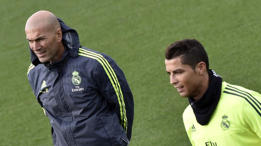 Zinédine Zidane et Cristiano Ronaldo