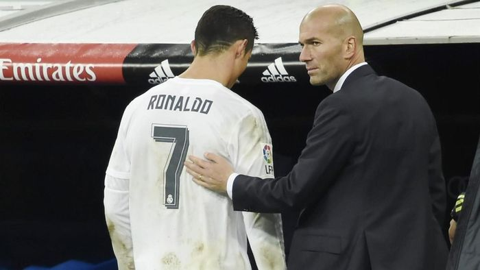 Image result for Zinedine Zidane with Cristiano Ronaldo
