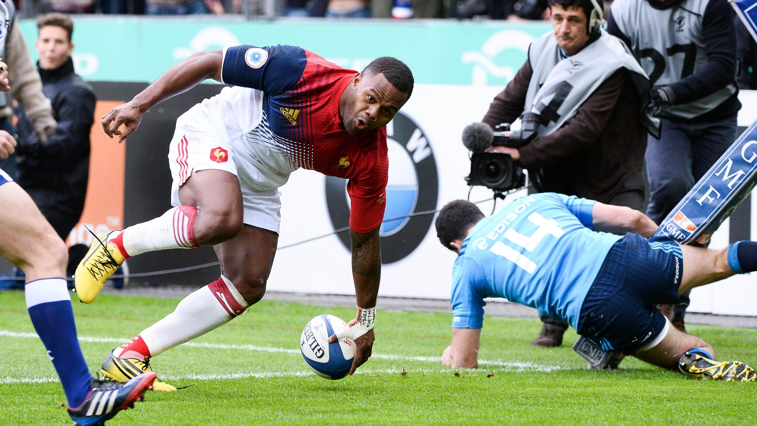Virimi Vakatawa (XV de France) face à l'Italie - 6 février 2016