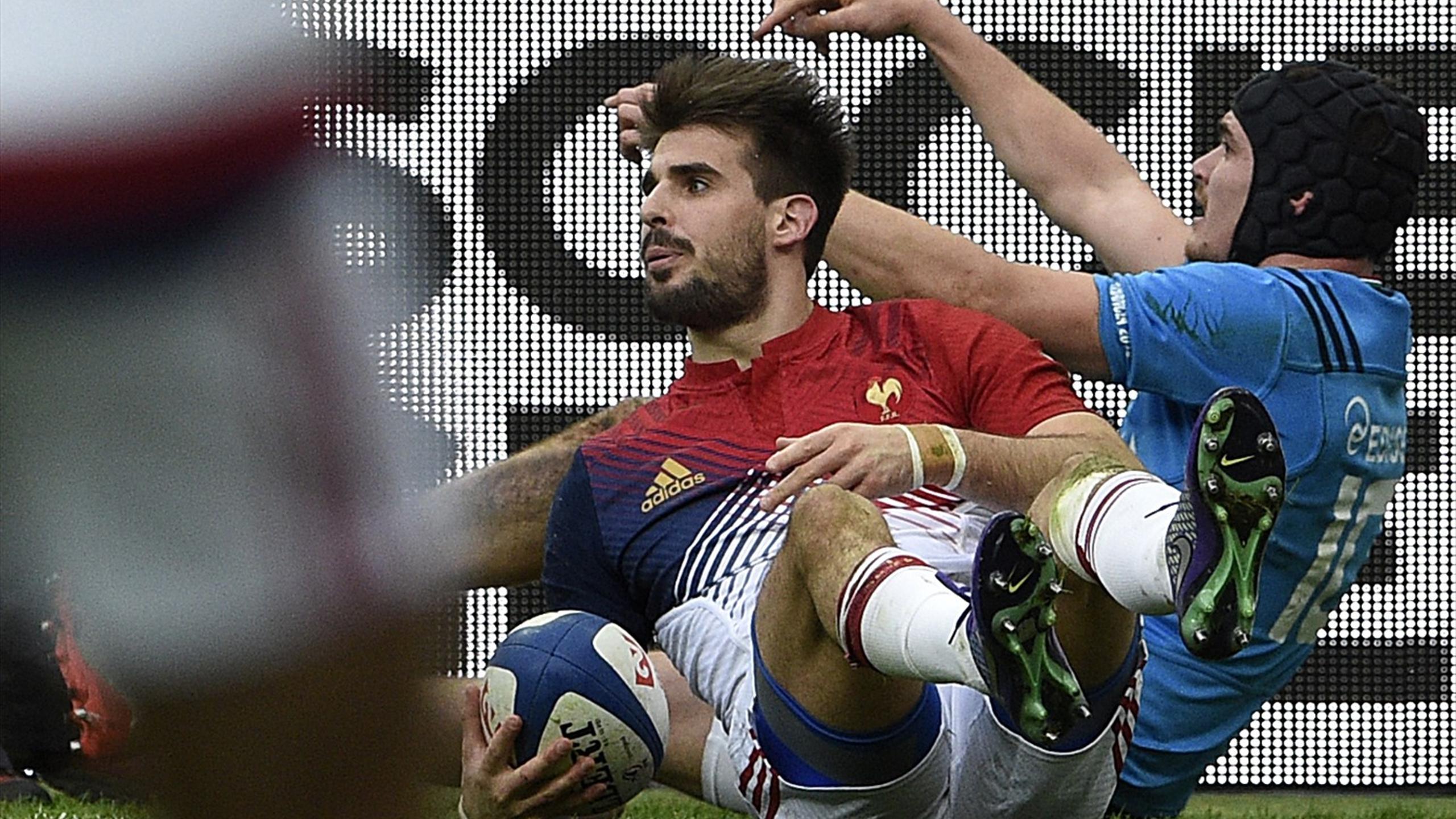 Hugo Bonneval (XV de France) face à l'Italie - 6 février 2016