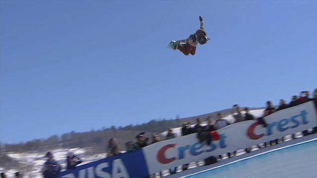 15-летняя сноубордистка два раза подряд прыгнула три полных оборота