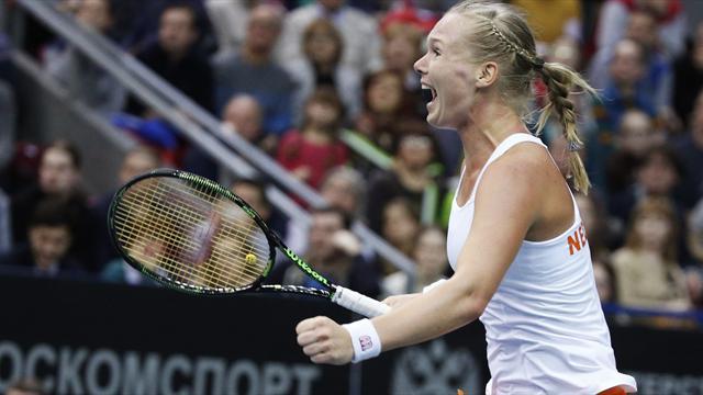 Dutch stun Russia to reach Fed Cup semi-finals