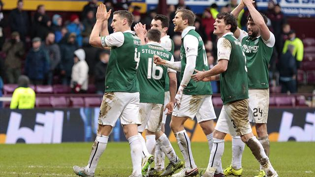 Paul Hanlon last-gasp equaliser earns Hibs replay against Hearts