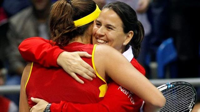 Muguruza bate a Jankovic y España luchará por ascender al Grupo Mundial