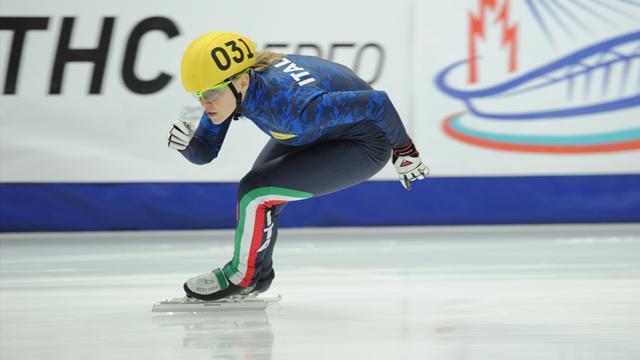 Arianna Fontana vince l'oro europeo nei 1.500, Lucia Peretti di bronzo