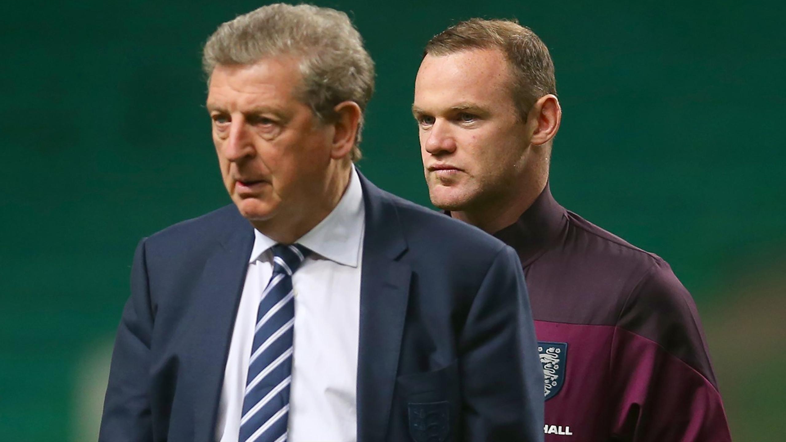 England manager Roy Hodgson and Wayne Rooney