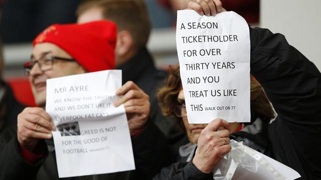 «Ливерпуль» не будет поднимать цены на билеты после протеста фанатов