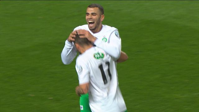 37 secondes, 2 buts, un hors-jeu et l'ouverture du score : la folle minute qui a débloqué les Verts