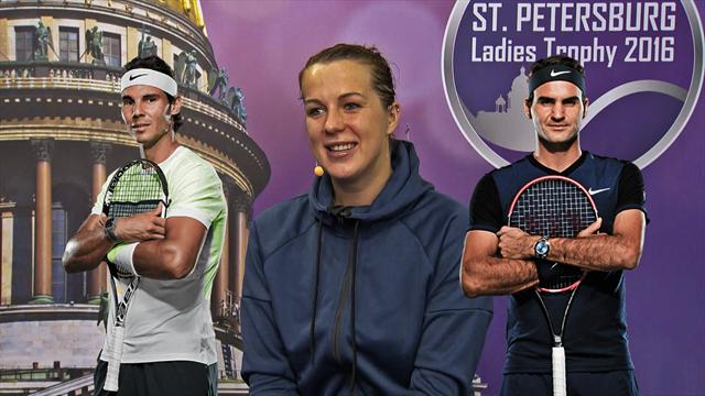 То или это. Анастасия Павлюченкова выбирает между Федерером и Надалем
