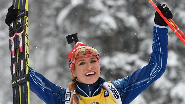 Gabriela Soukalova remporte le gros globe et le globe de la poursuite