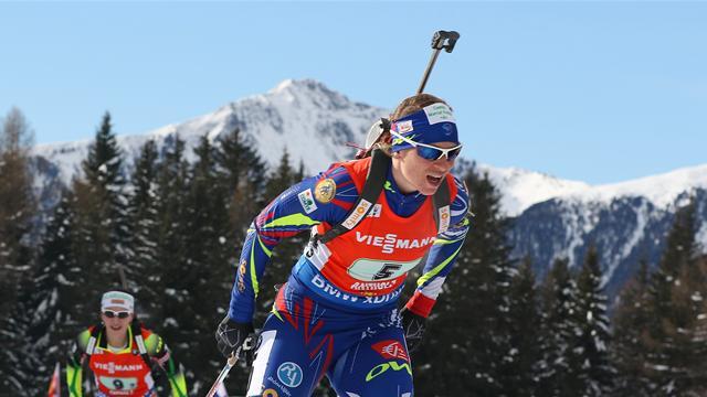 Русские биатлонистки заняли шестое место вэстафете наэтапе Кубка мира