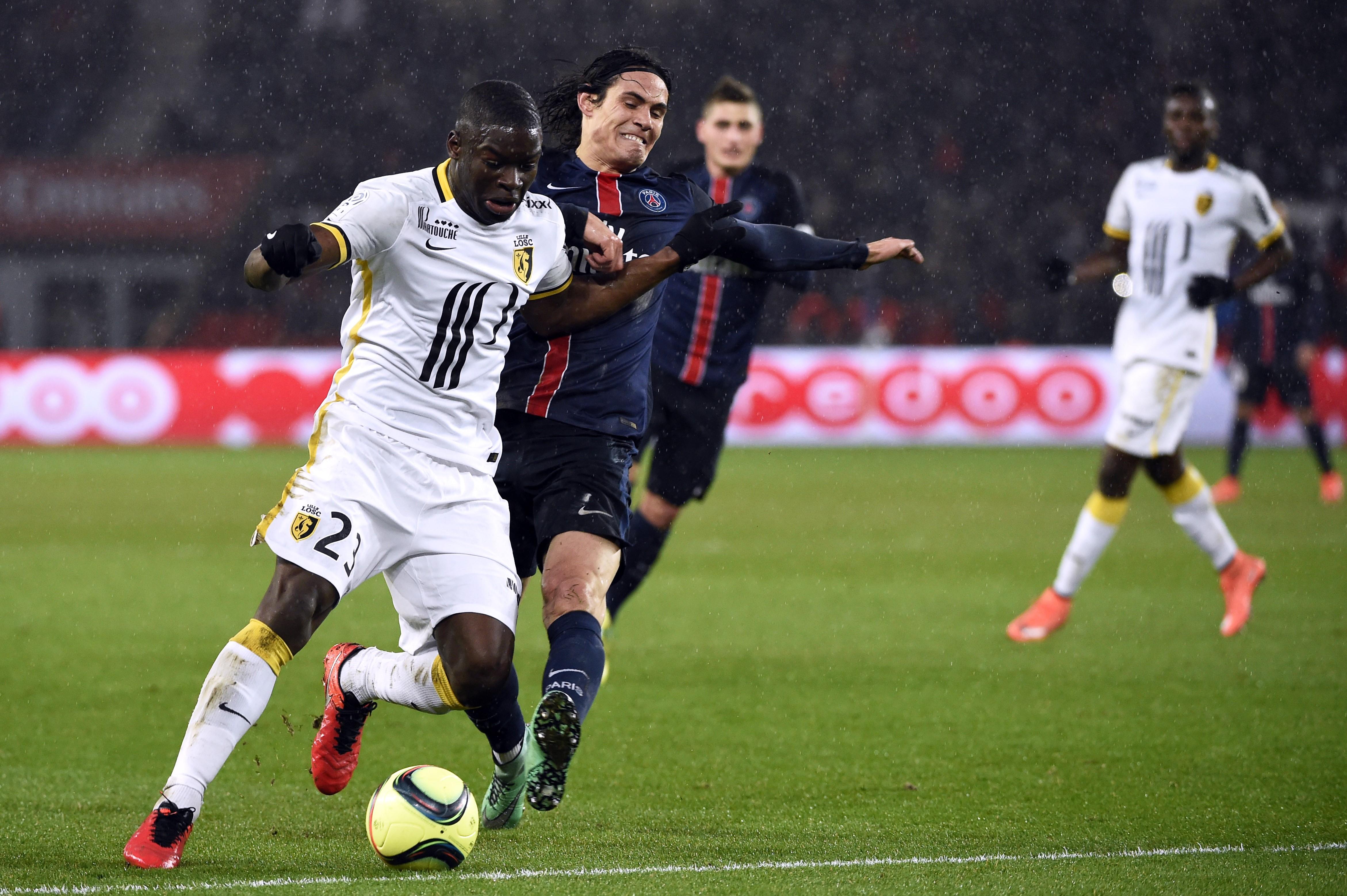 Edinson Cavani lors de PSG - Lille