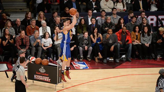 Thompson se paie Curry au concours à trois points