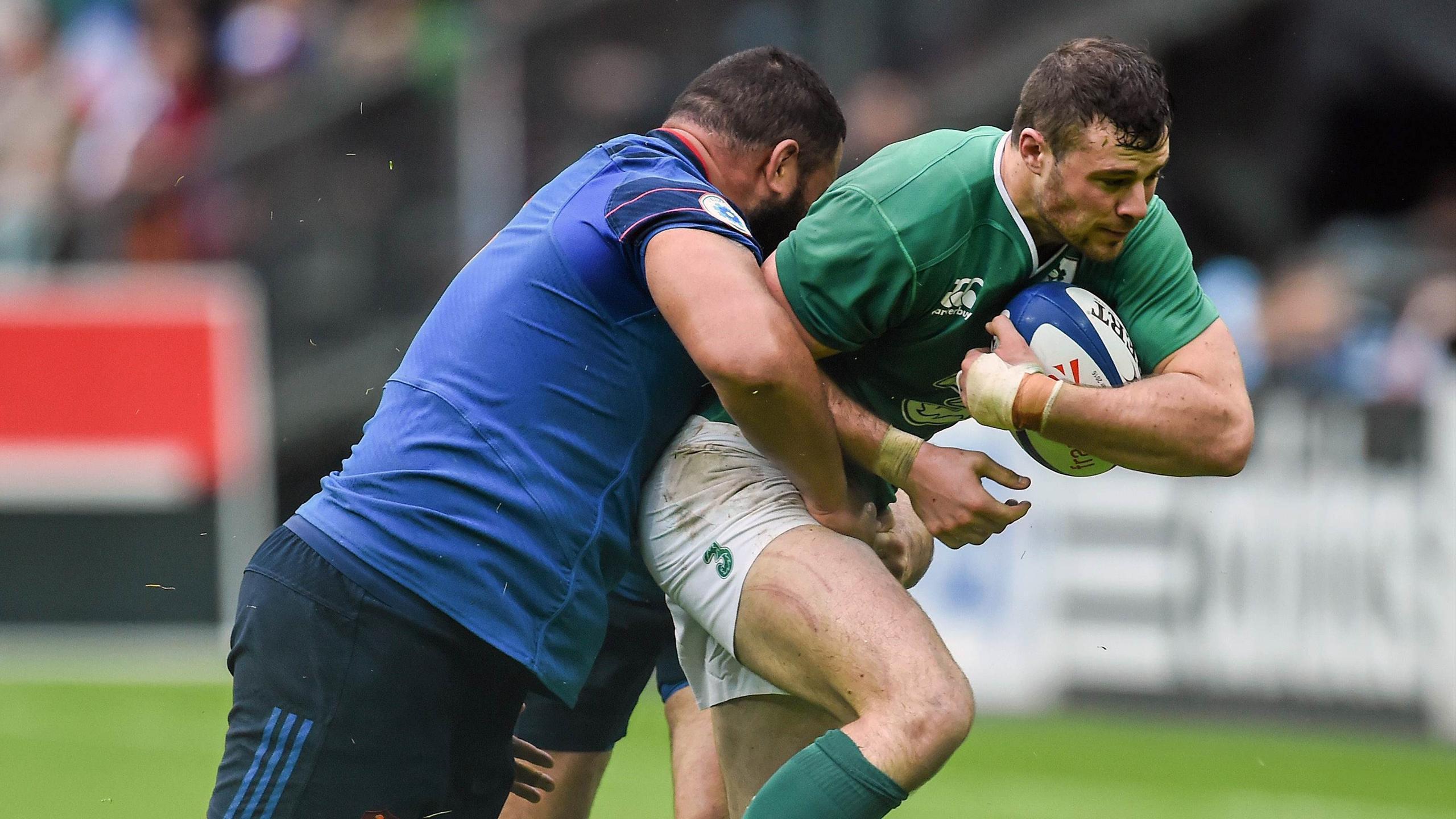 Uini Atonio (France) face à Robbie Henshaw (Irlande) - 13 février 2016