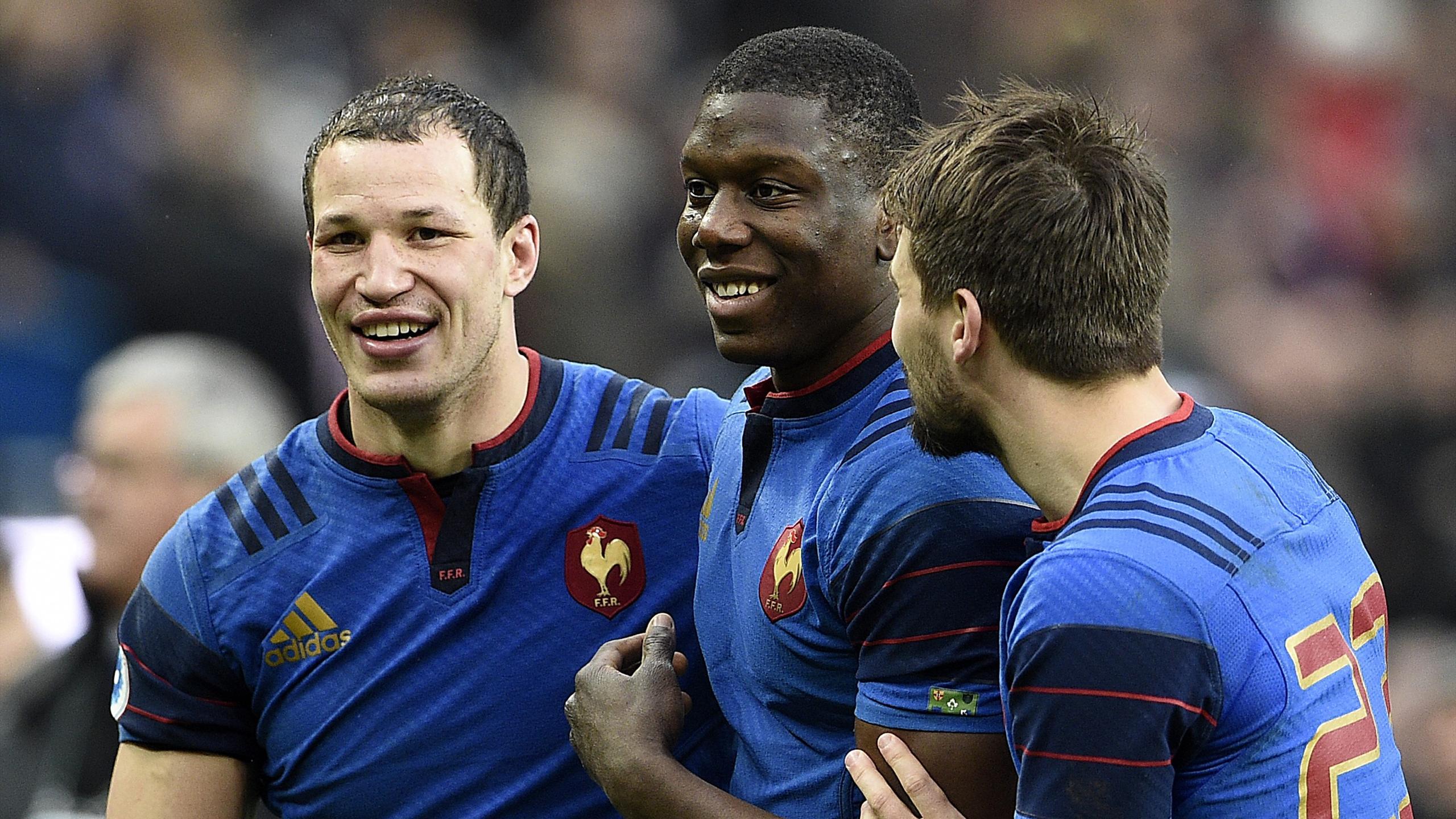 Wenceslas Lauret, Yacouba Camara et Hugo Bonneval (XV de France) - 13 février 2016