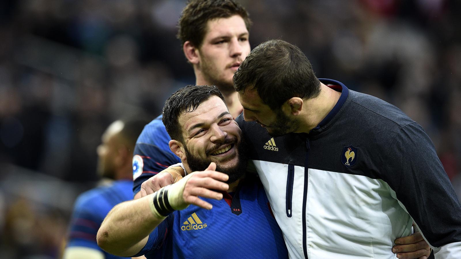 Rabah Slimani et Yoann Maestri (XV de France) - 13 février 2016
