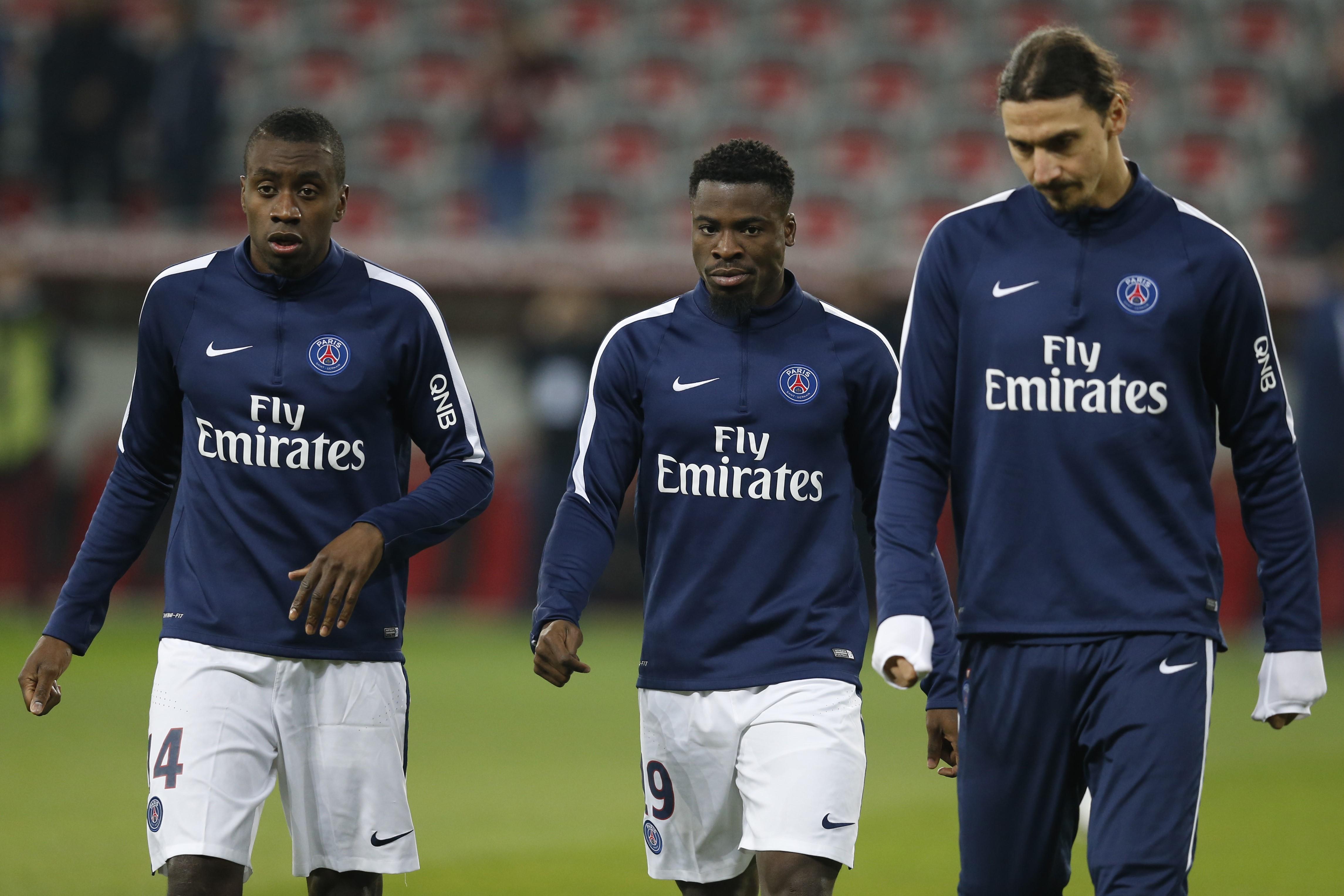 Blaise Matuidi, Serge Aurier et Zlatan Ibrahimovic