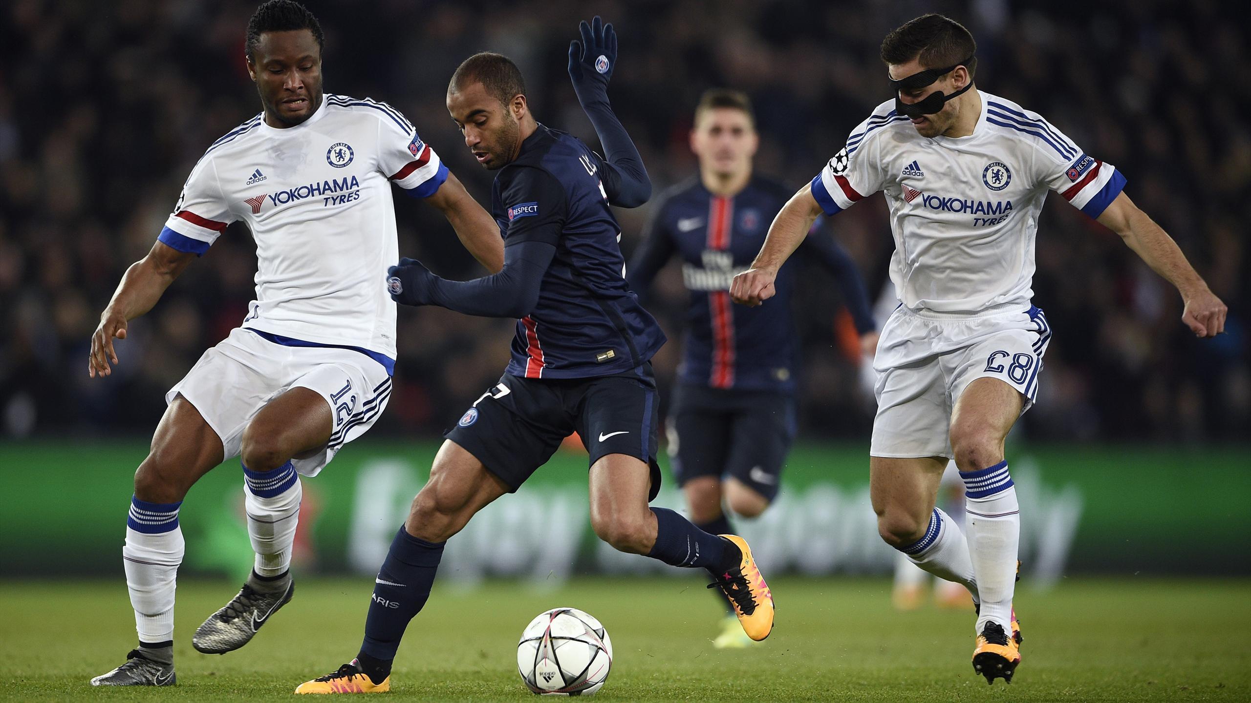 Lucas (PSG) face à Chelsea