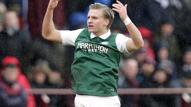 Jason Cummings' first-half strike hands Hibs victory over Hearts
