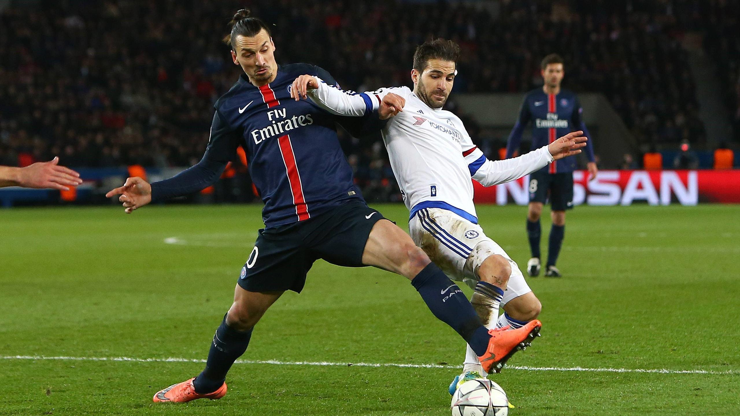 Ibrahimovic (PSG) et Cesc Fabregas (Chelsea)