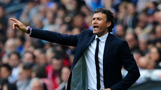 """Luis Enrique se dit heureux d'entraîner une """"équipe unique"""""""