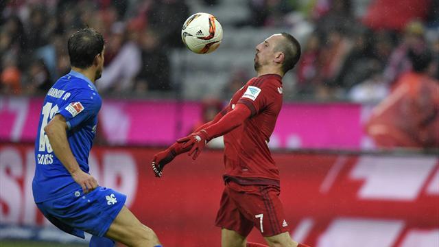 Avec un Ribéry passeur dès son retour, le Bayern renverse Darmstadt