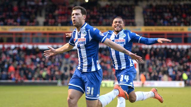 Round-up: Win takes Wigan second as Gillingham slip up against Oldham