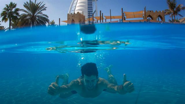 Djokovic'in Dubai keyfi