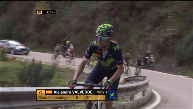 Et Valverde a mis le turbo à 8 kilomètres de la ligne...